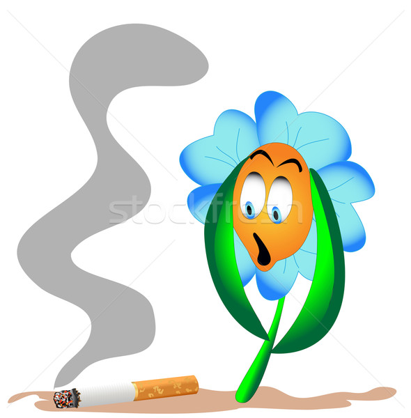 flower from beside lying cigarette Stock photo © yurkina