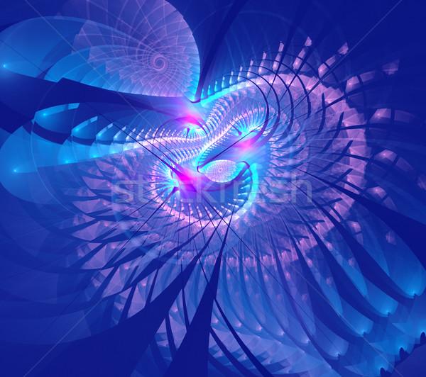 Fraktal örnek soyut teknoloji spiral iş Stok fotoğraf © yurkina
