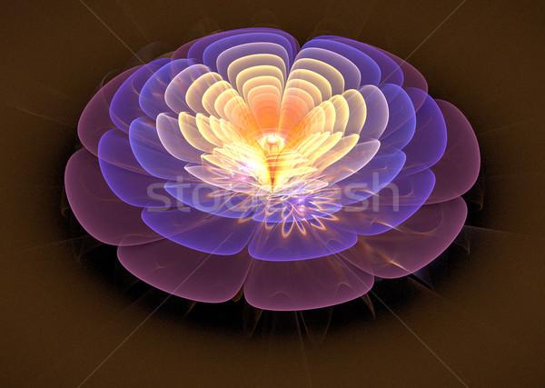 иллюстрация фрактальный фантастический ярко цветок Сток-фото © yurkina