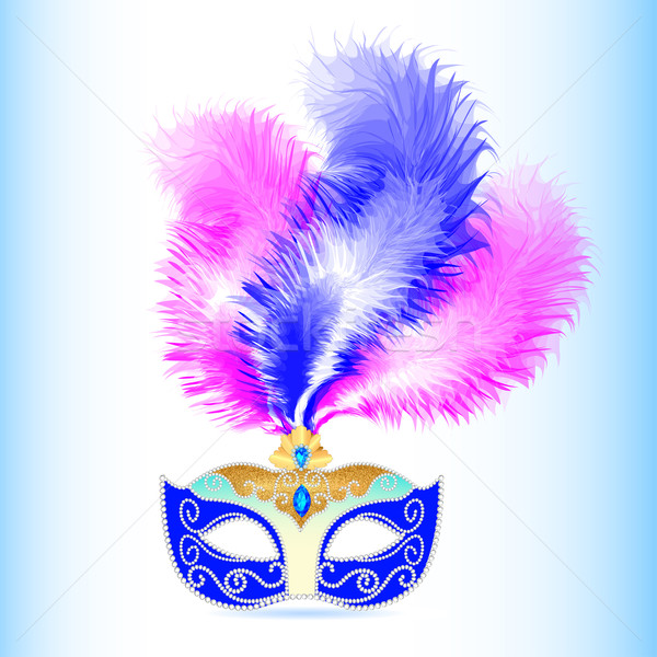 carnival mask with feather and jewels Stock photo © yurkina
