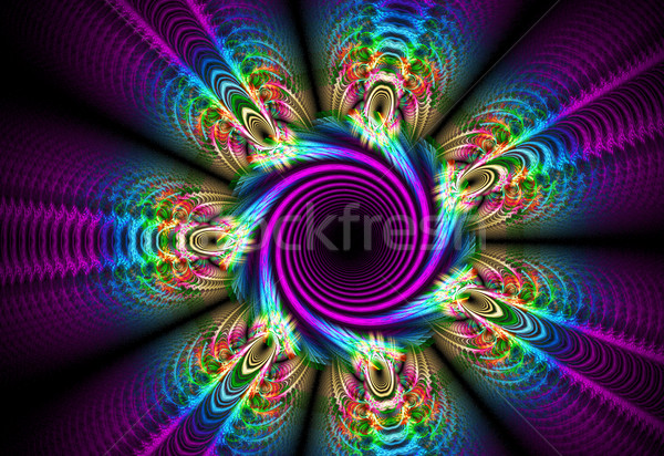 Fractal illustration lumineuses lit de fleurs lumière design Photo stock © yurkina
