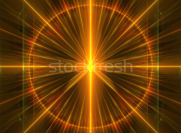 иллюстрация фрактальный ярко линия интернет Сток-фото © yurkina