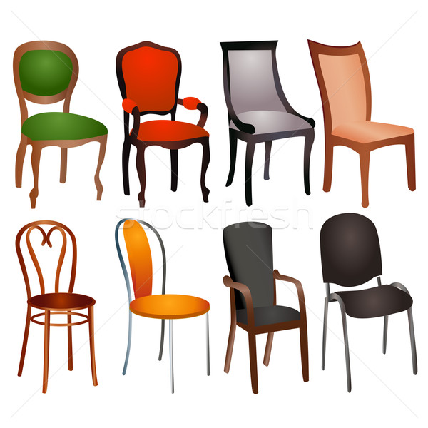 set of different chairs for home and office Stock photo © yurkina