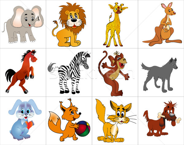 kit merry decorative animals Stock photo © yurkina