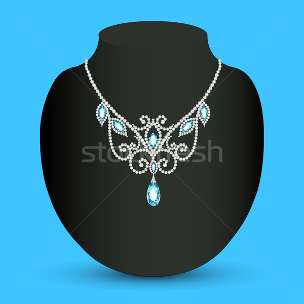 necklace  with blue jewels Stock photo © yurkina