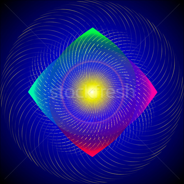 Numérique tourbillon lumineuses lignes illustration Rainbow Photo stock © yurkina
