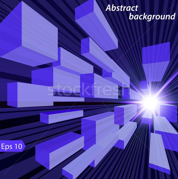 Illusztráció absztrakt űr ragyogó csillag kockák Stock fotó © yurkina