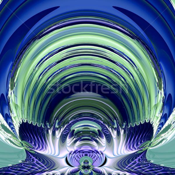 Fraktal örnek kozmik astronot kask doku Stok fotoğraf © yurkina