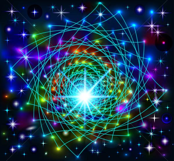 抽象的な ネオン 星 実例 デザイン ストックフォト © yurkina