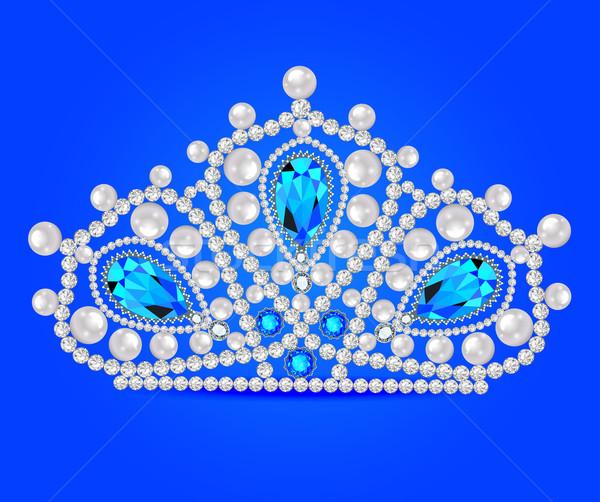 Corona tiara mujeres brillante precioso piedras Foto stock © yurkina