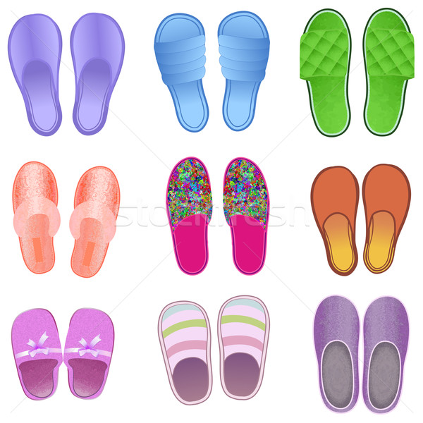 background with slippers cozy and soft  Stock photo © yurkina