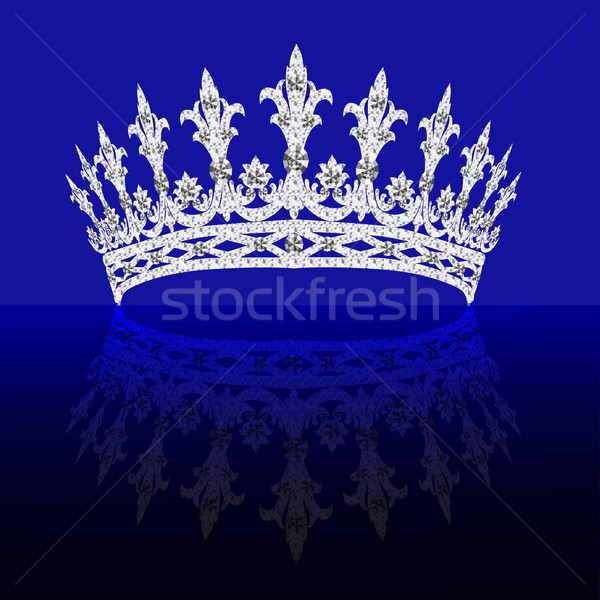 Nőies tükröződés fordul kék illusztrációk divat Stock fotó © yurkina