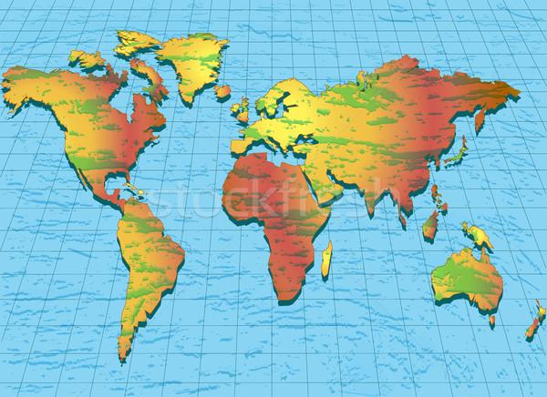Világtérkép struktúra illusztráció térkép terv Föld Stock fotó © yurkina