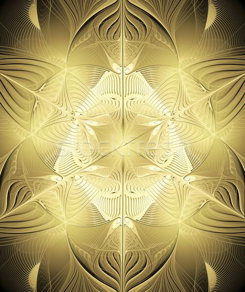 Fractal brilhante ouro ilustração computador Foto stock © yurkina