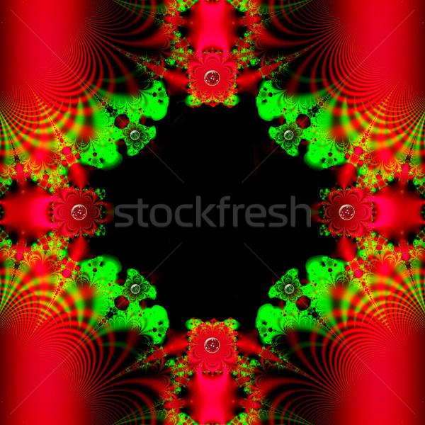 Colorido fractal quadro floral padrão digital Foto stock © yurkina