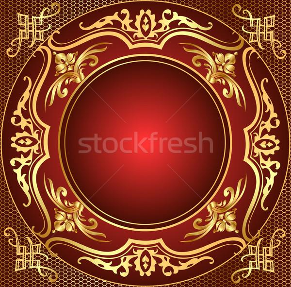 retro frame background with gold(en)  pattern Stock photo © yurkina
