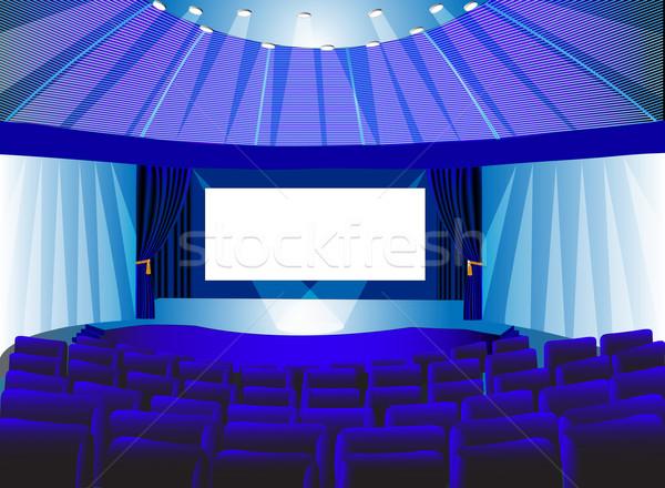 premises blue theater with screen Stock photo © yurkina