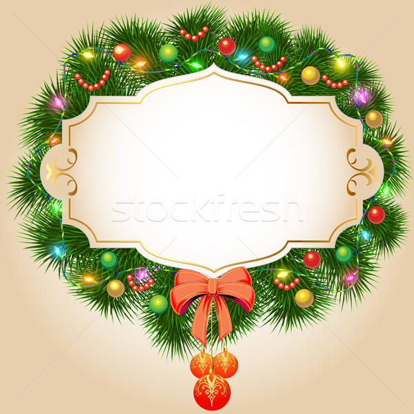 実例 クリスマス 花輪 ストックフォト © yurkina