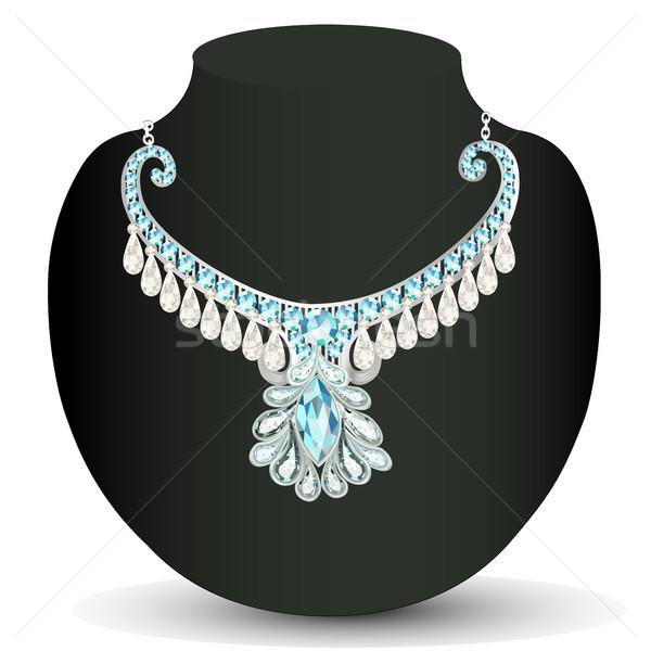 necklace women's wedding with precious stones Stock photo © yurkina