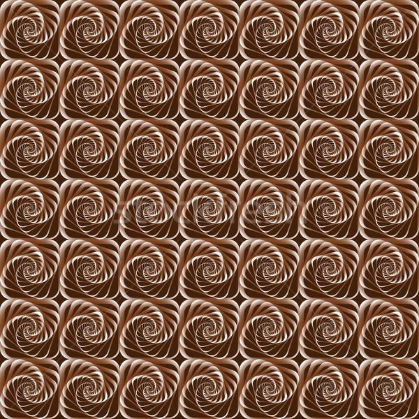 幾何学的な シームレス チョコレート 色 実例 コーヒー ストックフォト © yurkina