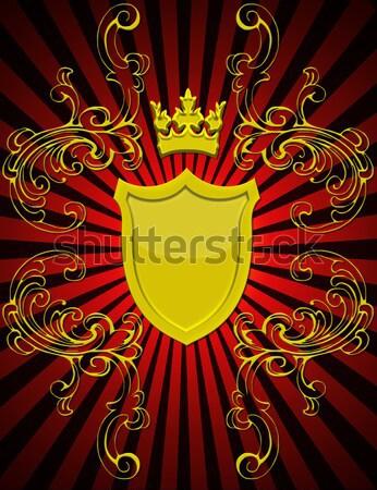gold(en) corona with shield and pattern Stock photo © yurkina