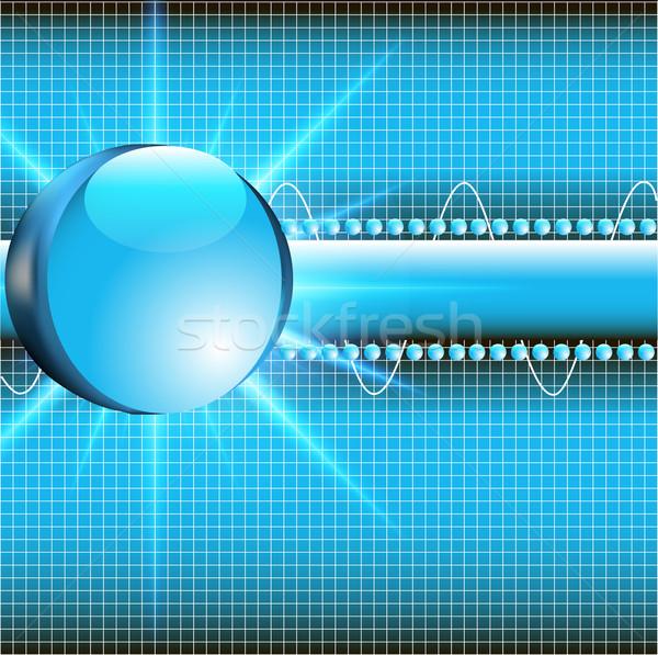 üveg labda izzik absztrakció illusztráció földgömb Stock fotó © yurkina