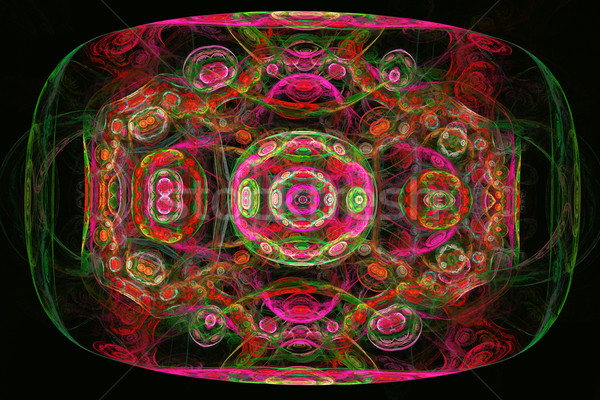 Illustratie fractal ornament heldere patroon dienblad Stockfoto © yurkina
