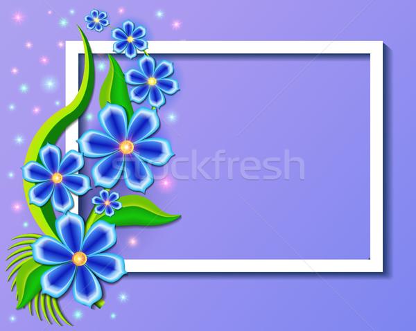 иллюстрация красивой цветы цветочный дизайна кадр Сток-фото © yurkina