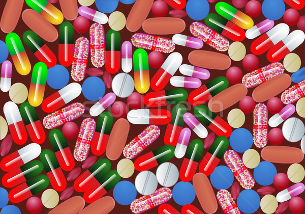 таблетка таблетки капсула медицина иллюстрация компьютер Сток-фото © yurkina