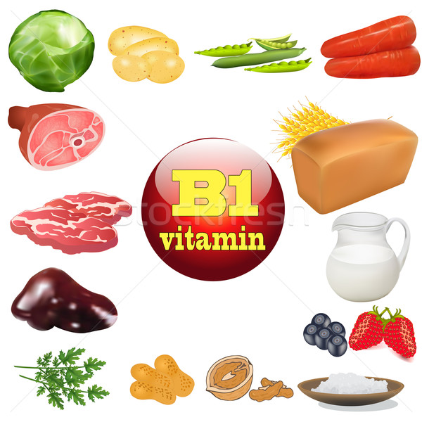vitamin b one in plant and animal products The origin of the Stock photo © yurkina