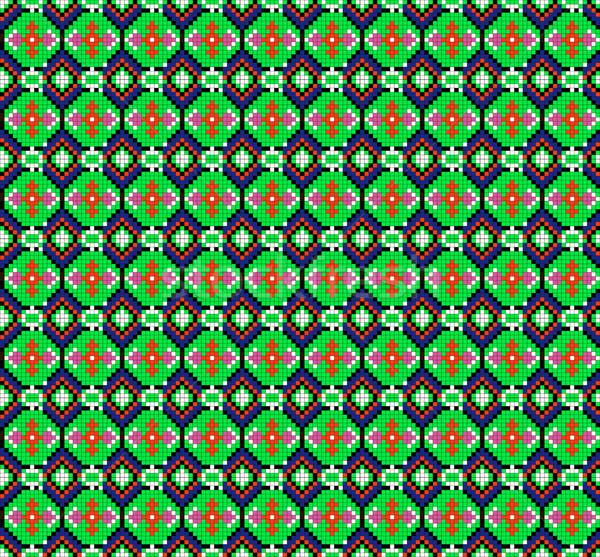 シームレス 幾何学的な 飾り 緑 実例 抽象的な ストックフォト © yurkina