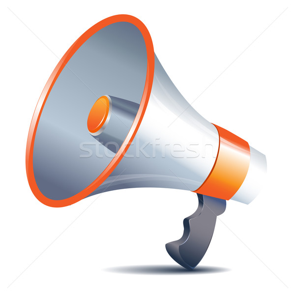 megaphone loudspeaker on white background Stock photo © yurkina