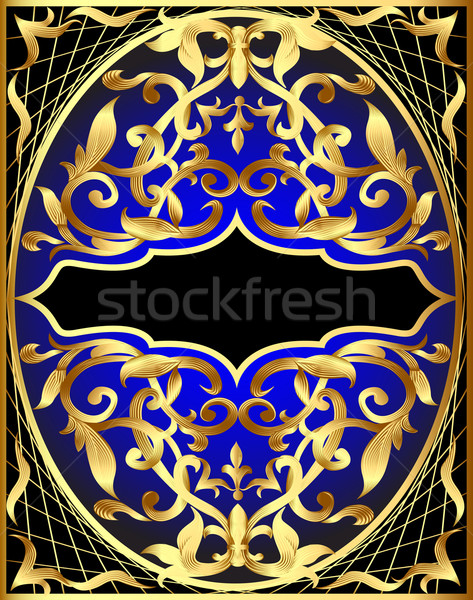 Stock photo: background with gold pattern