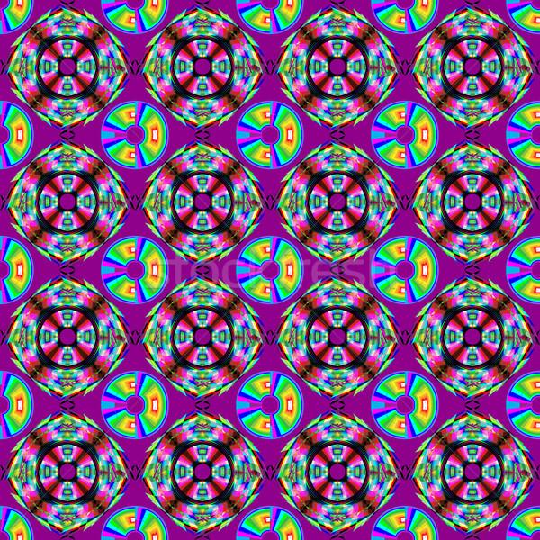 Sin costura geométrico textura brillante púrpura ilustración Foto stock © yurkina