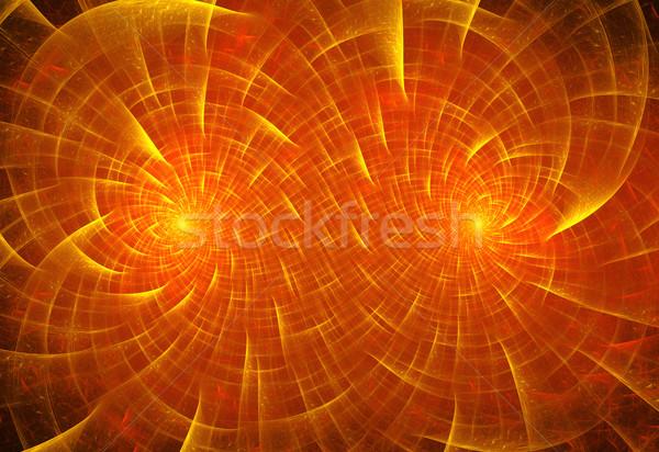 Illustration résumé fractal géométrique modèle lumière Photo stock © yurkina