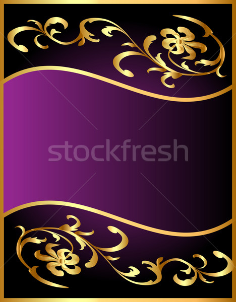 background with flower pattern from gild Stock photo © yurkina