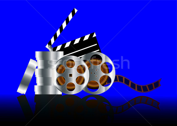 film in reel with reflection Stock photo © yurkina
