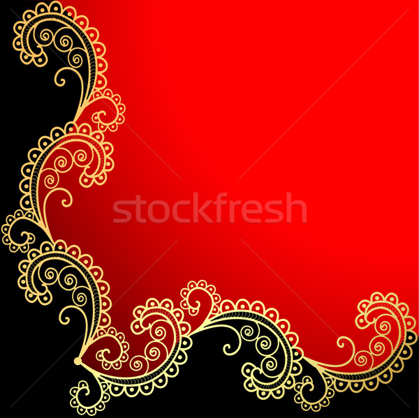 background with the frame with gold ornamentation Stock photo © yurkina