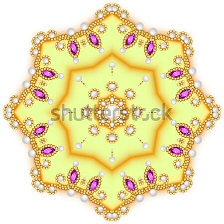 Tiare couronne mariage bleu pierre illustration Photo stock © yurkina
