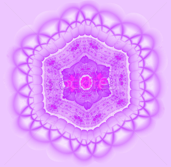 Fractal illustratie heldere ornament bloem Stockfoto © yurkina