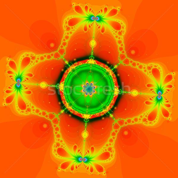 Kleurrijk fractal patroon digitale Stockfoto © yurkina