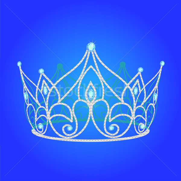 tiara women  wedding with blue jewels Stock photo © yurkina