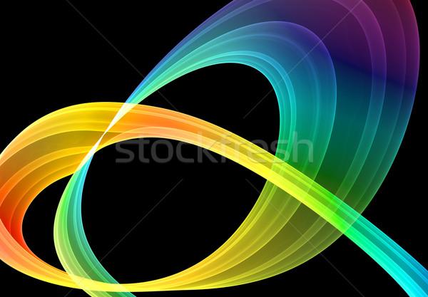 Tarka absztrakció fekete magas minőség renderelt Stock fotó © yurok