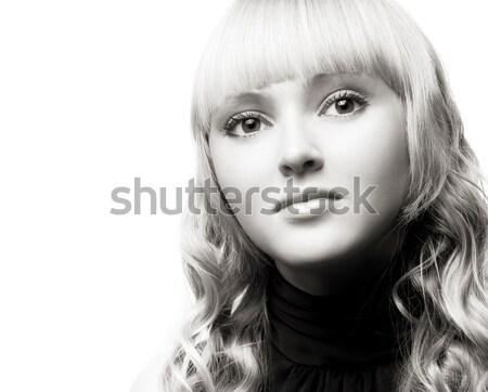 Jonge blond portret mooie gezicht Stockfoto © yurok