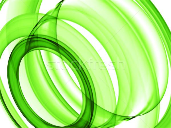 Stock photo: green loops
