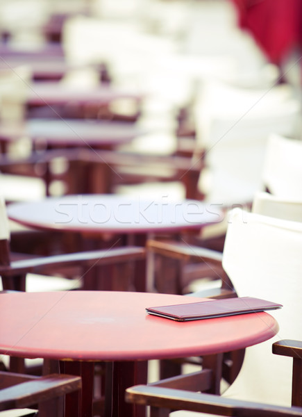 Zomer cafe tabel ondiep focus Stockfoto © yurok
