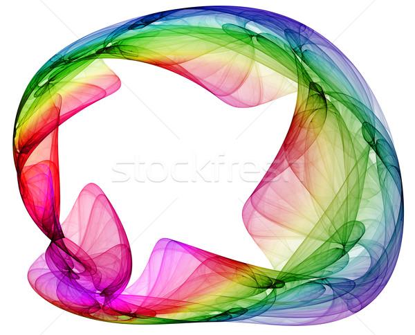 Kolorowy abstrakcja biały świadczonych streszczenie Zdjęcia stock © yurok
