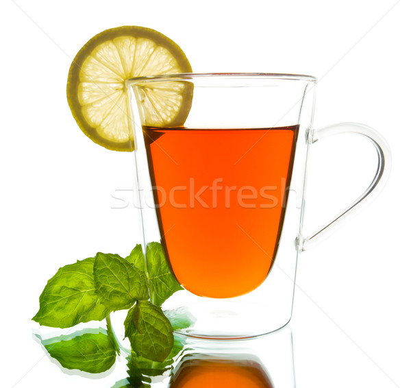 Tasse thé menthe citron Photo stock © yurok