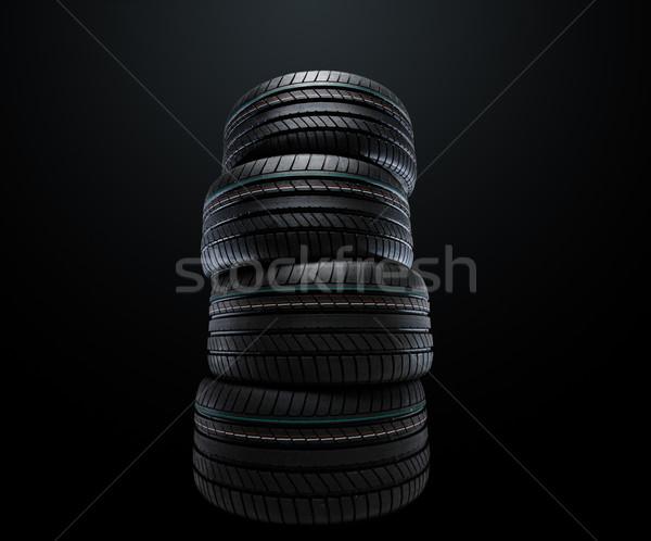 Nieuwe zomer banden zwarte Stockfoto © yurok