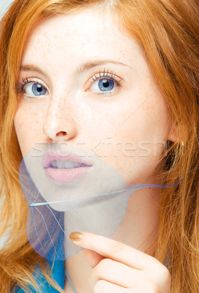 Genç güzellik portre kadın Stok fotoğraf © yurok